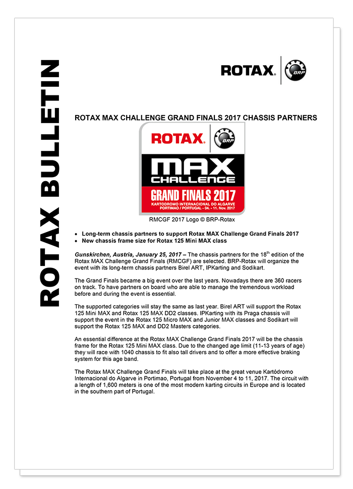 Rotax Kart - Chassis partners